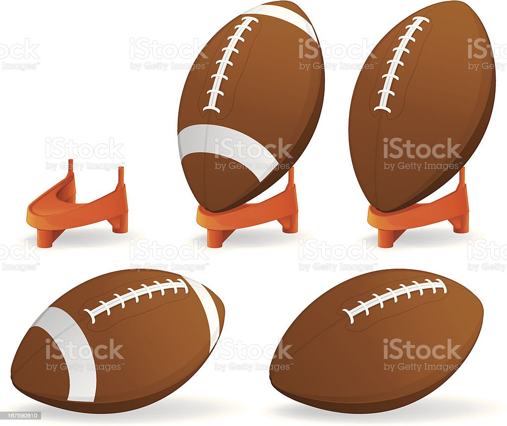Football and Tee royalty-free stock vector art