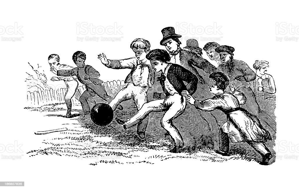 Football | Antique Sports Illustrations royalty-free stock vector art