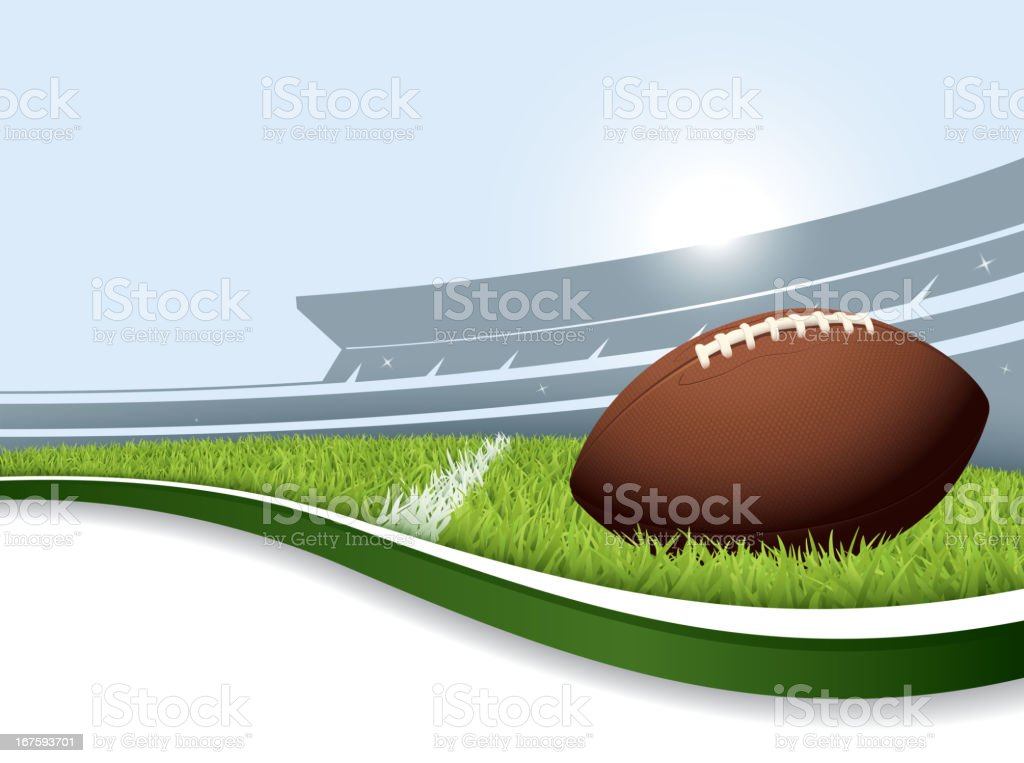 US football background vector art illustration