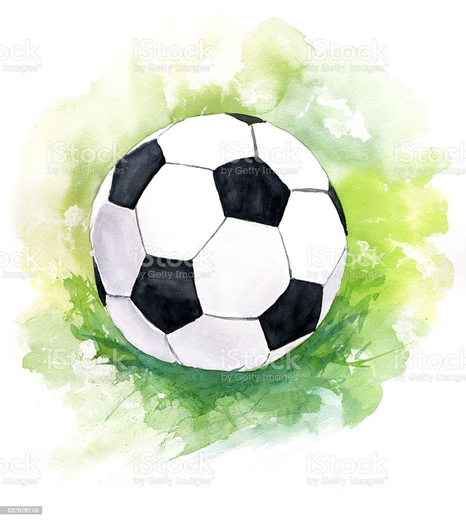 football ball watercolor drawing stock vector art newspaper victorville ca newspaper victoria bc