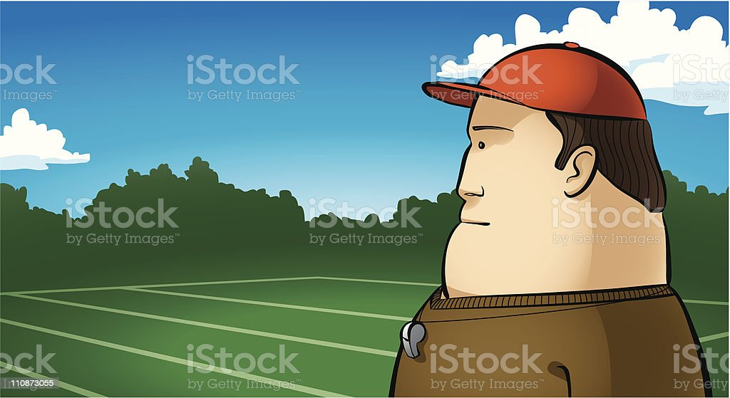 Football Coach vector art illustration
