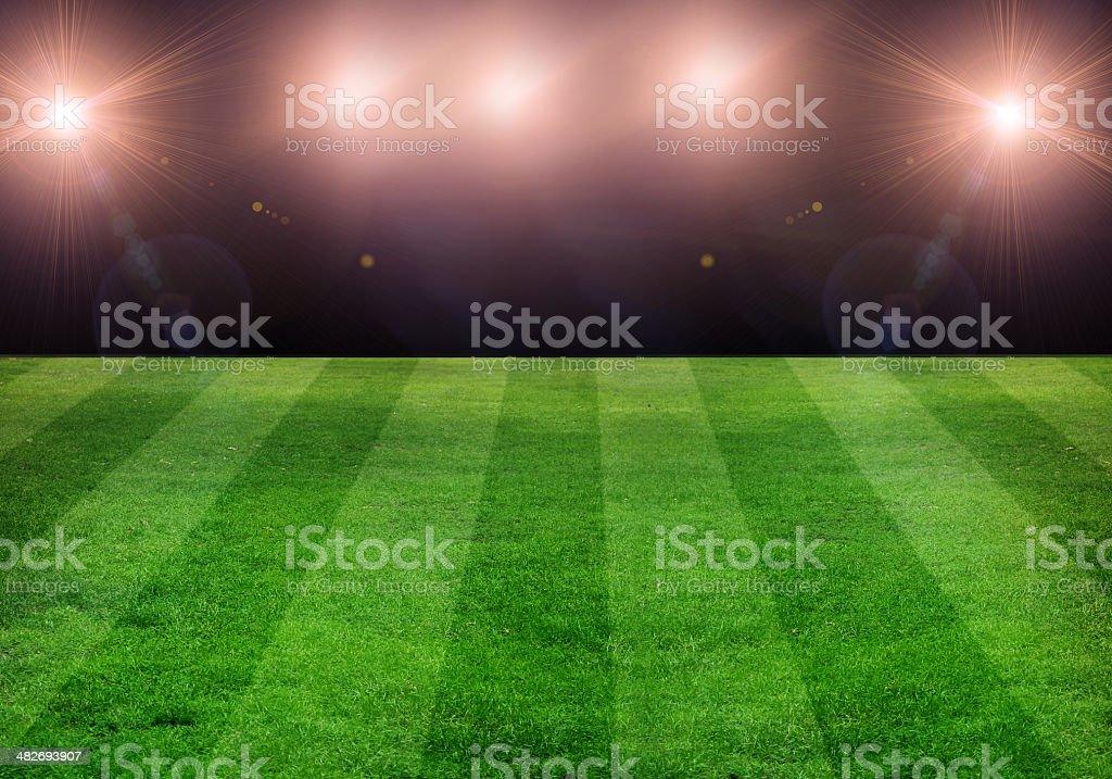 Football Field vector art illustration
