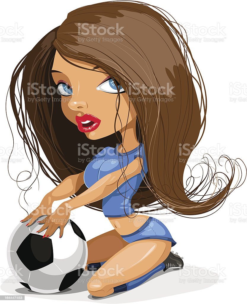 football girl royalty-free stock vector art