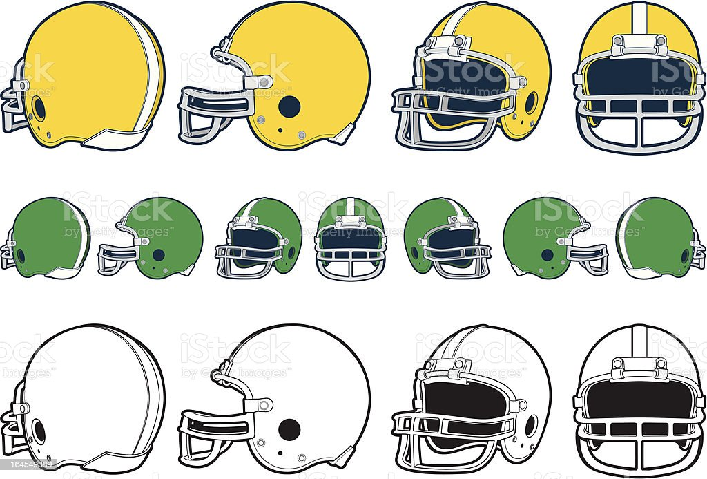 Football Helmet vector art illustration