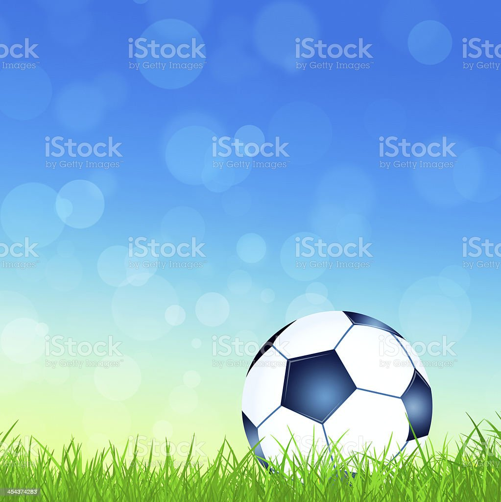 Football on the Grass royalty-free stock vector art