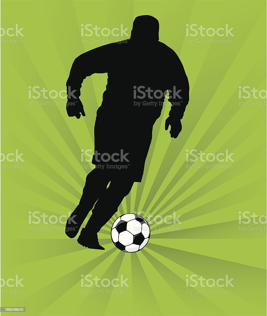Football Player royalty-free stock vector art