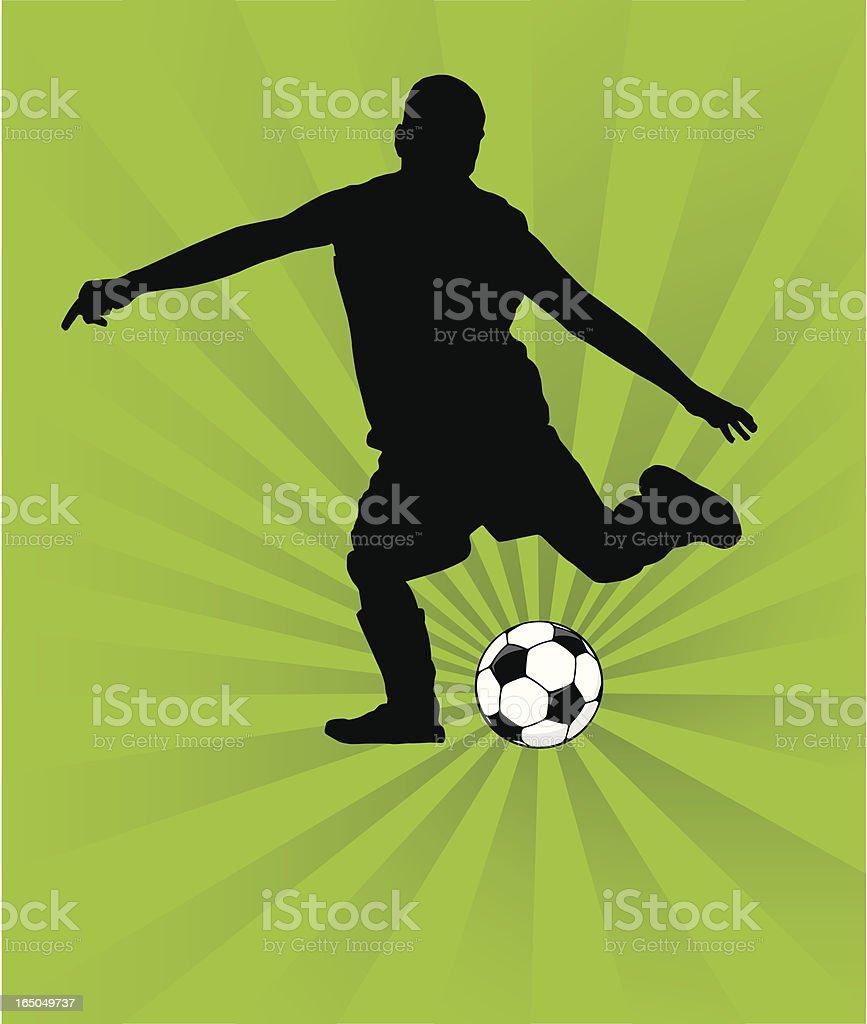 Football Player royalty-free stock vector art