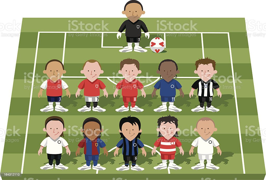 Football player mix and match royalty-free stock vector art