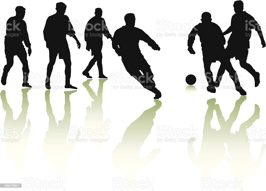 Football Players vector art illustration
