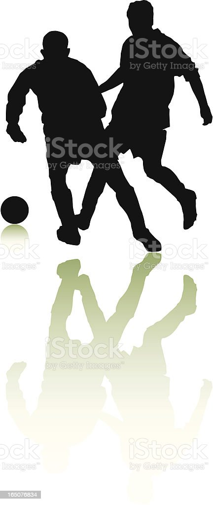 Football Players royalty-free stock vector art