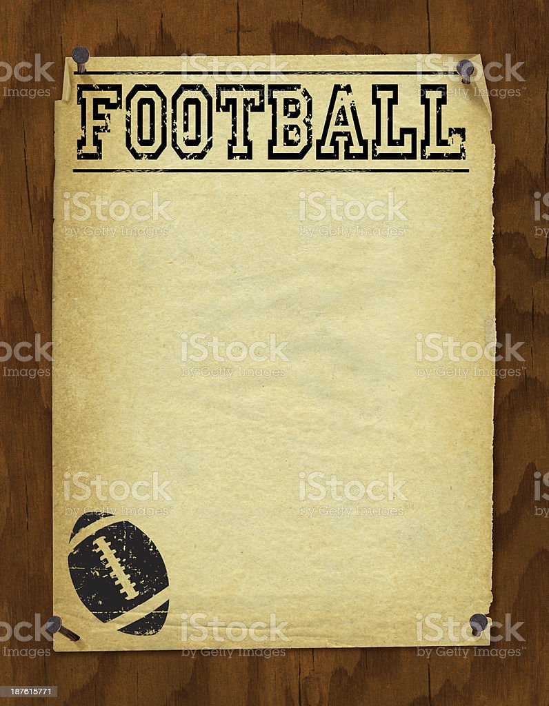 Football Poster Background - Retro royalty-free stock vector art