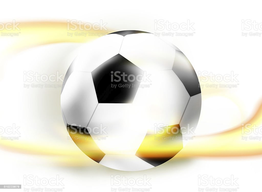 Football Soccer Ball Creative Ball Light Design Illustration Light Colored vector art illustration