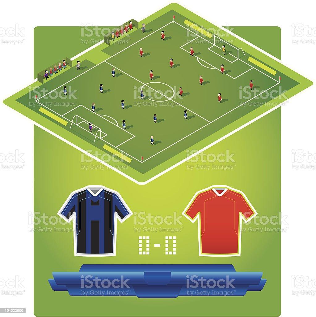 football soccer games prediction formation match vector art illustration