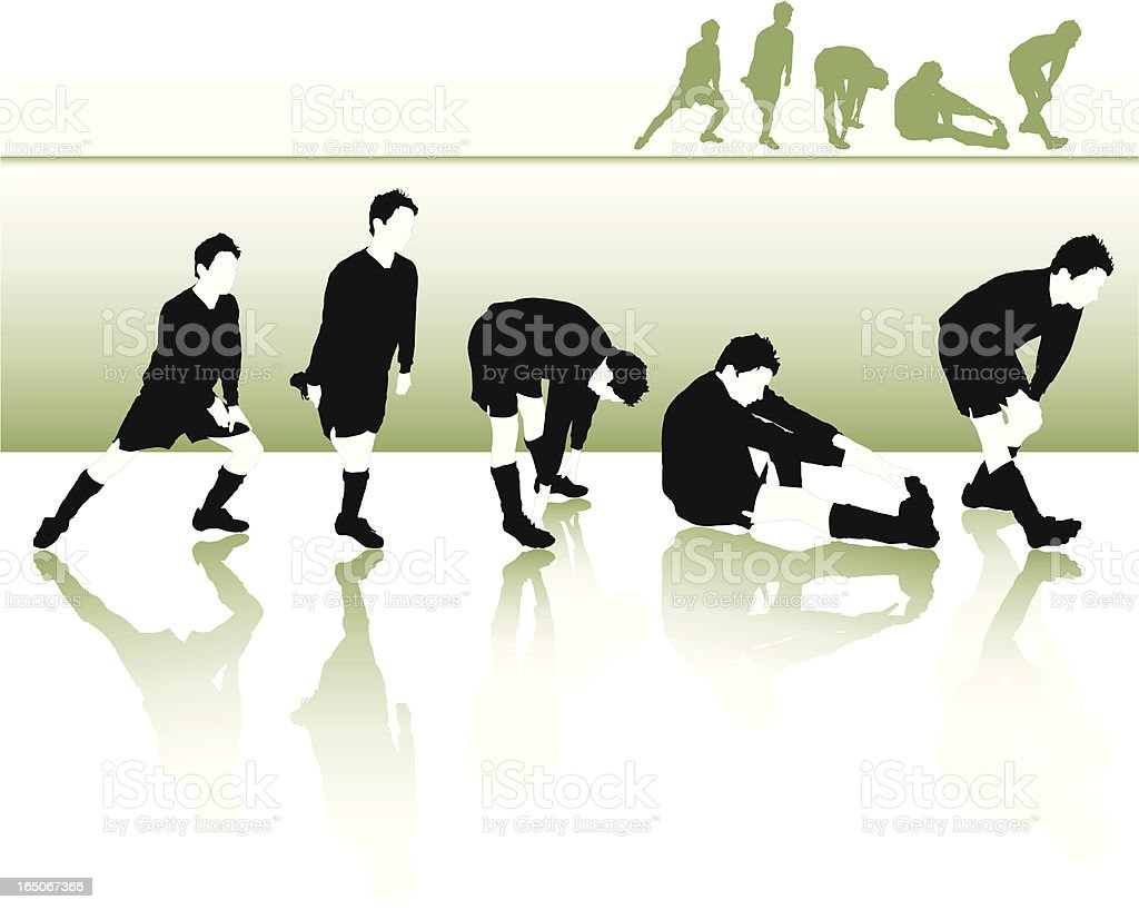 Football Stretches royalty-free stock vector art