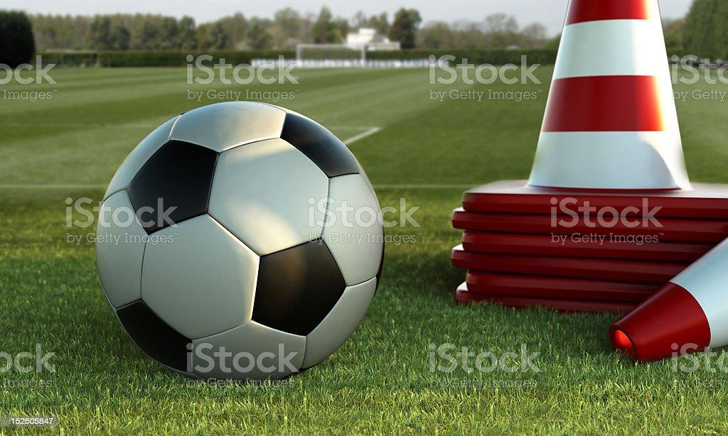 Treino de futebol vetor e ilustração royalty-free royalty-free