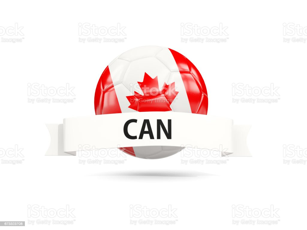 Football with flag of canada stock photo
