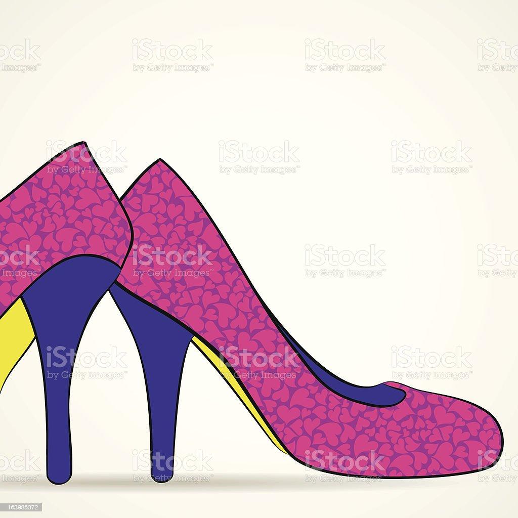 footwear vector art illustration