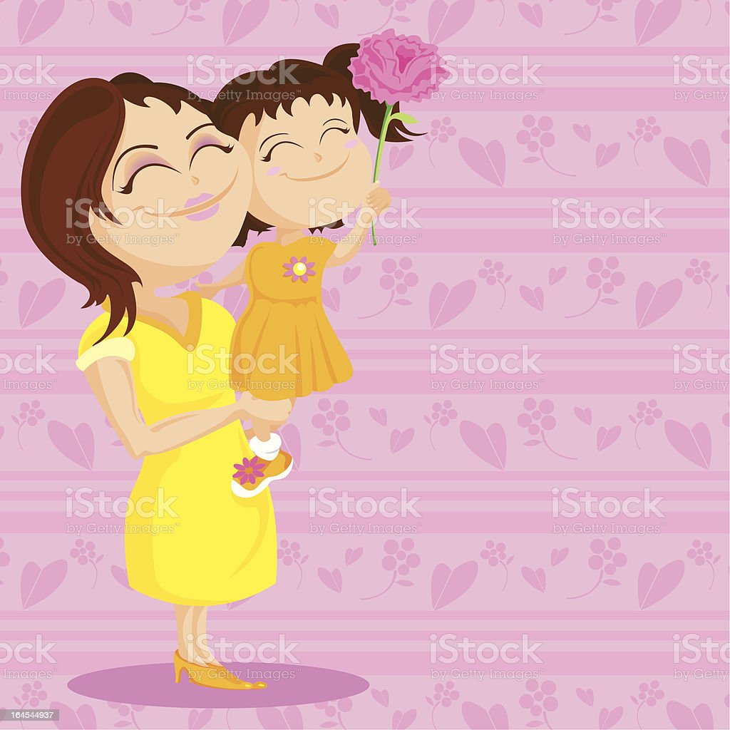 For Mum...With Love. royalty-free stock vector art