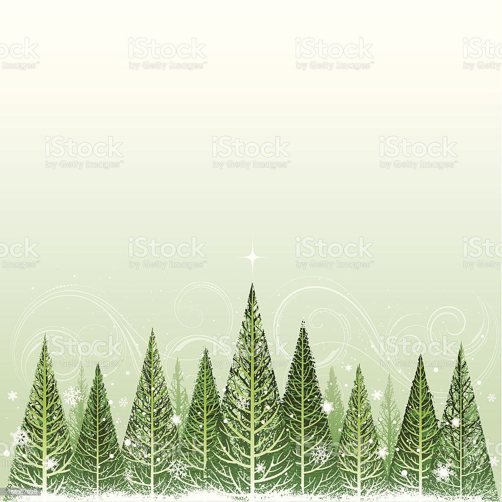 Forest Christmas background royalty-free stock vector art