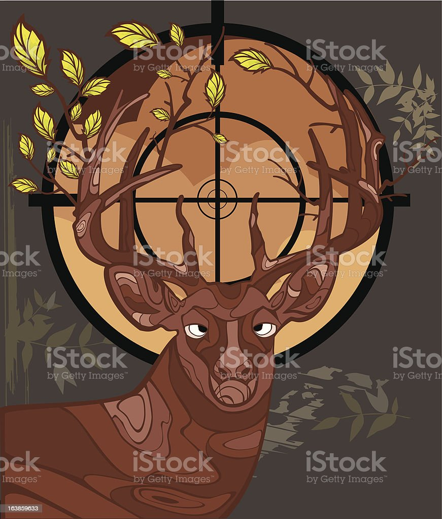 Forest Deer royalty-free stock vector art