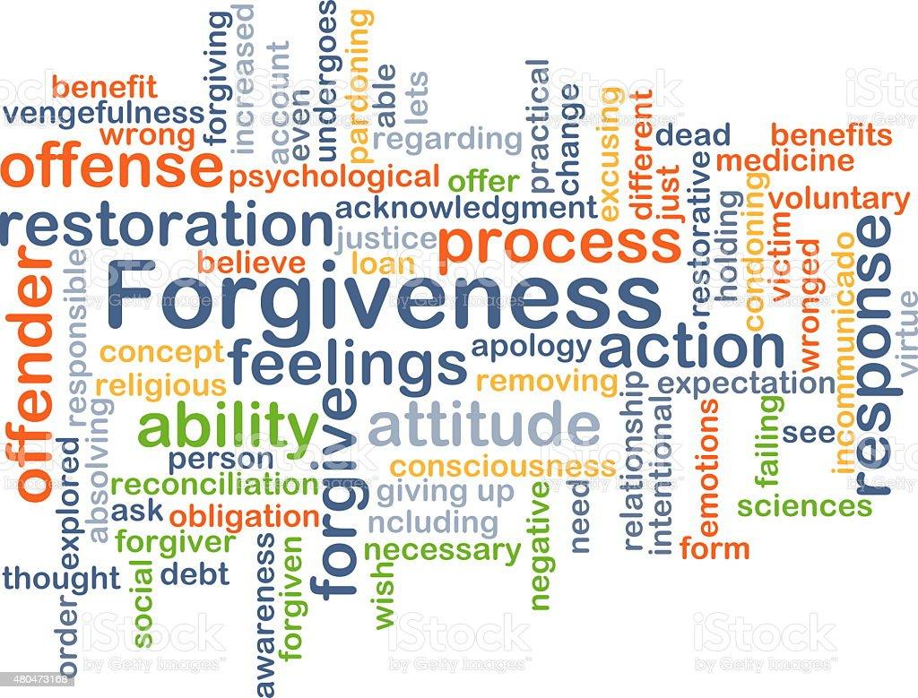 Forgiveness background concept vector art illustration
