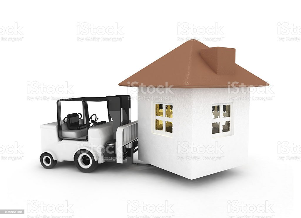 forklift bring home royalty-free stock vector art