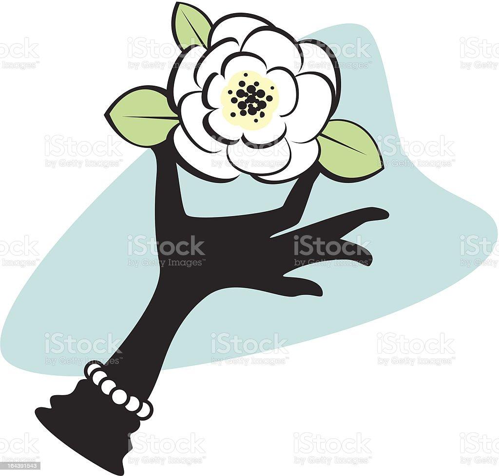 formal flower presentation vector art illustration