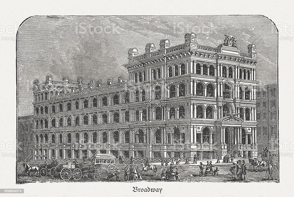 Former New York Life Insurance Company Building, 346 Broadway vector art illustration