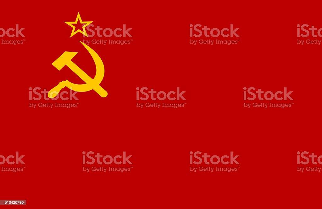 Former USSR Flag vector art illustration