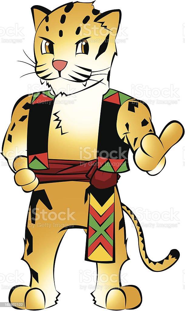 Formosan clouded leopard vector art illustration