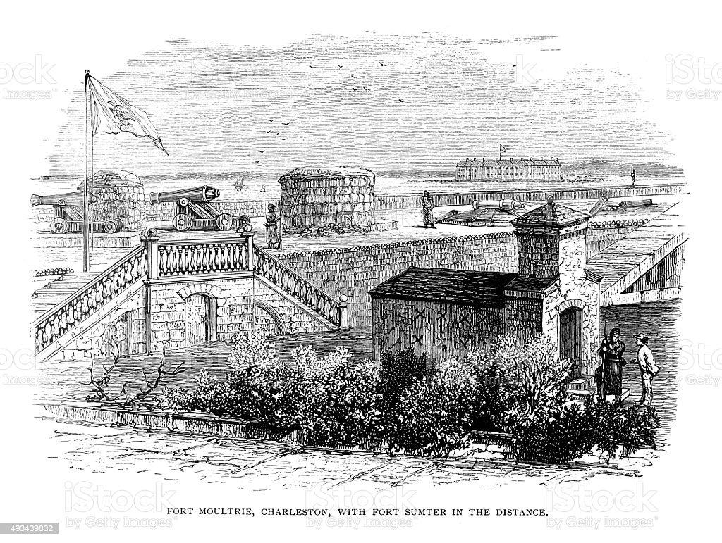 Fort Moultrie vector art illustration