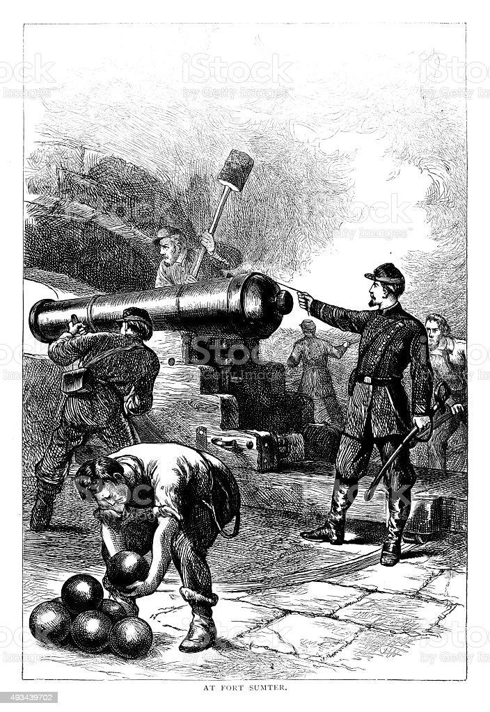 Fort Sumter vector art illustration