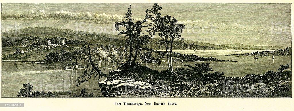 Fort Ticonderoga, New York royalty-free stock vector art