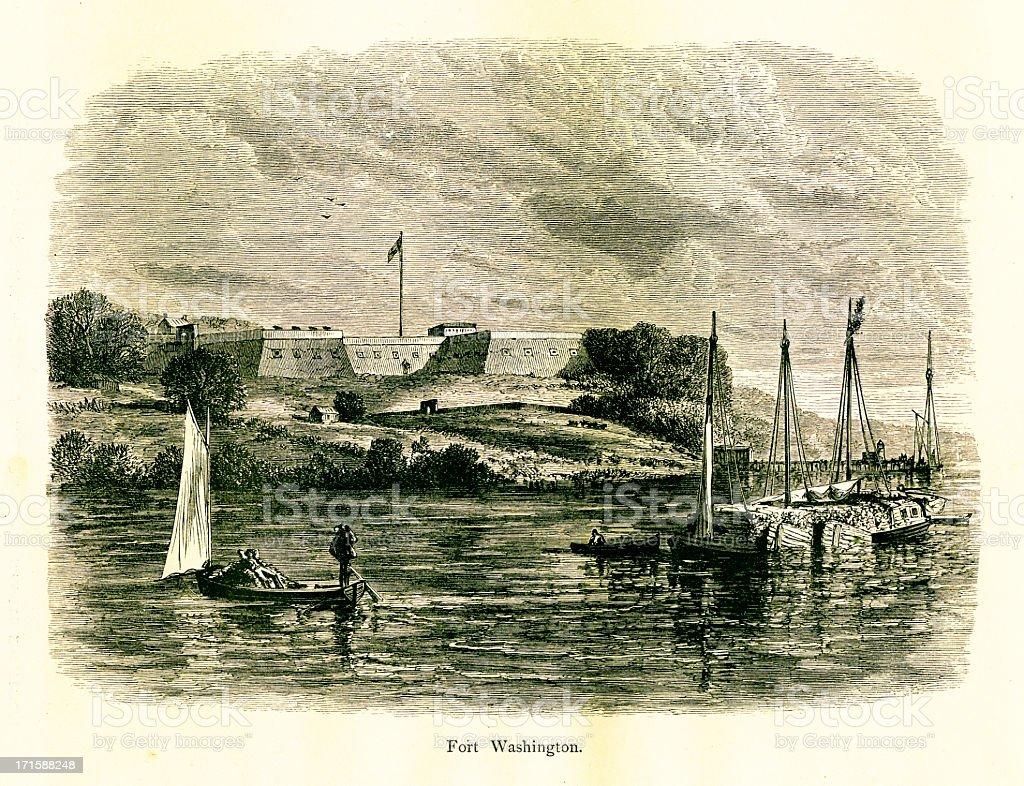 Fort Washington, Maryland | Historic American Illustrations vector art illustration