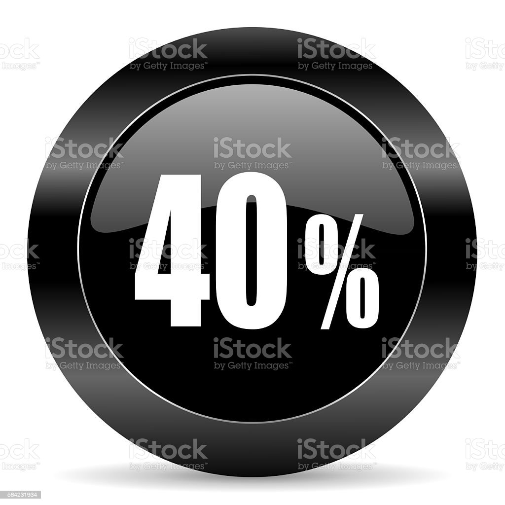 Forty percent icon stock photo