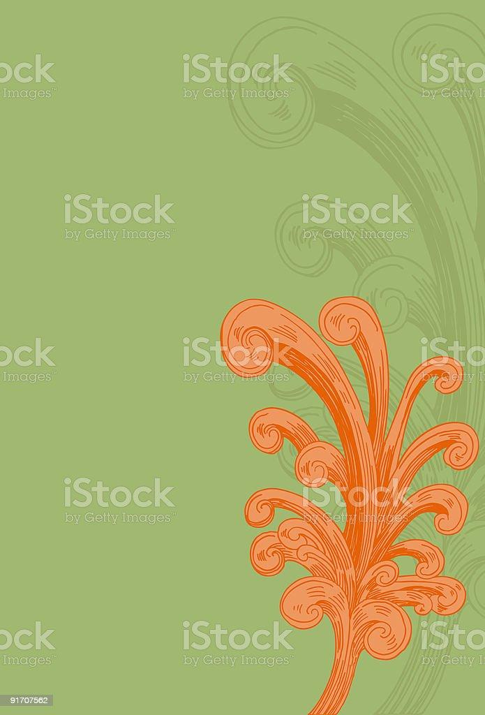 Fountain Flourishes royalty-free stock vector art