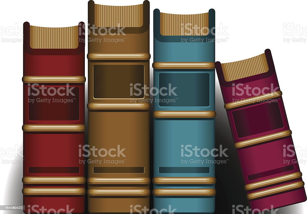 Four Books royalty-free stock vector art