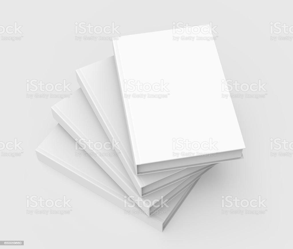 four books piling up vector art illustration