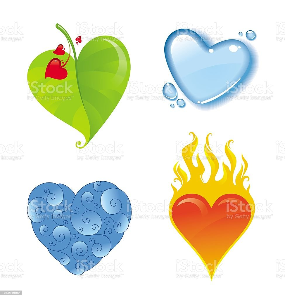 Four different hearts royalty-free stock vector art