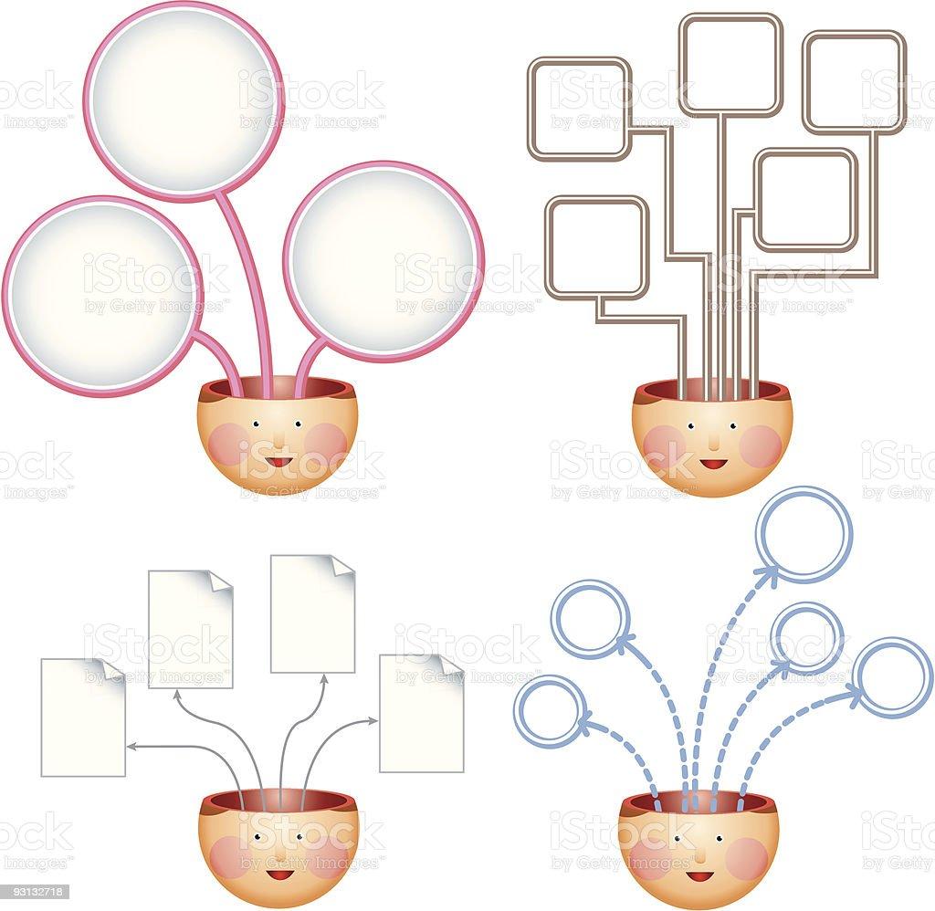 Four ideas charts royalty-free stock vector art