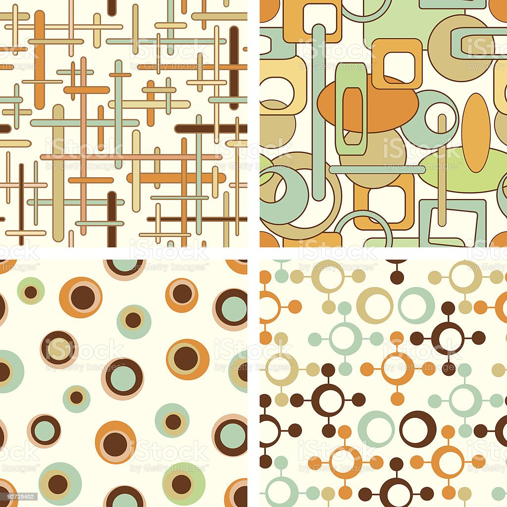 four pattern royalty-free stock vector art