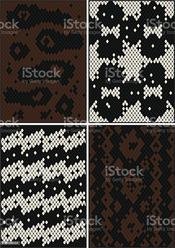 Four seamless patterns royalty-free stock vector art