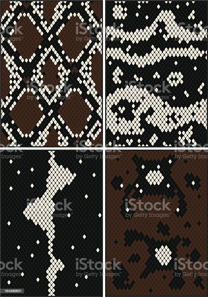 Four seamless patterns vector art illustration
