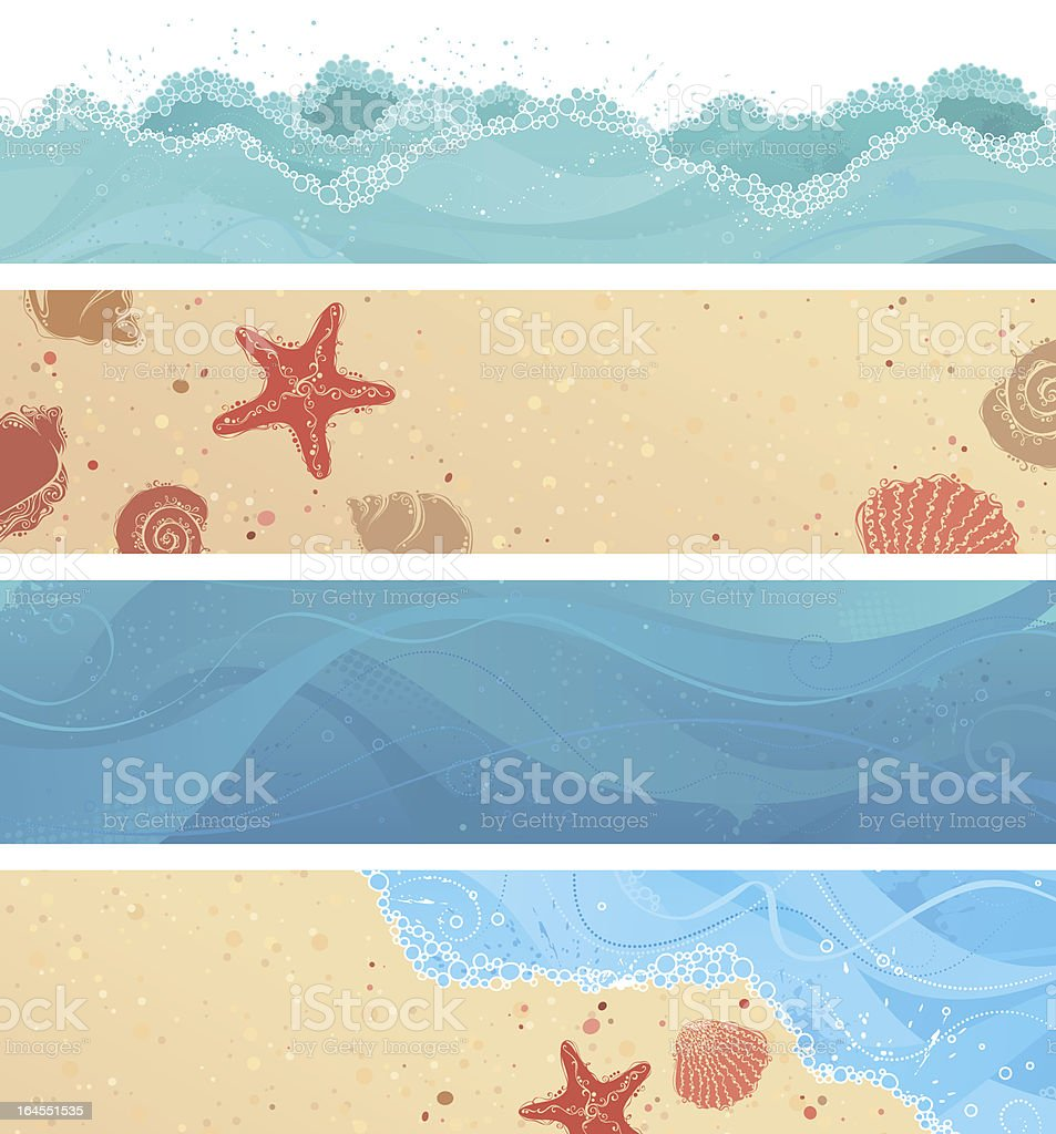 Four tropical banners royalty-free stock vector art