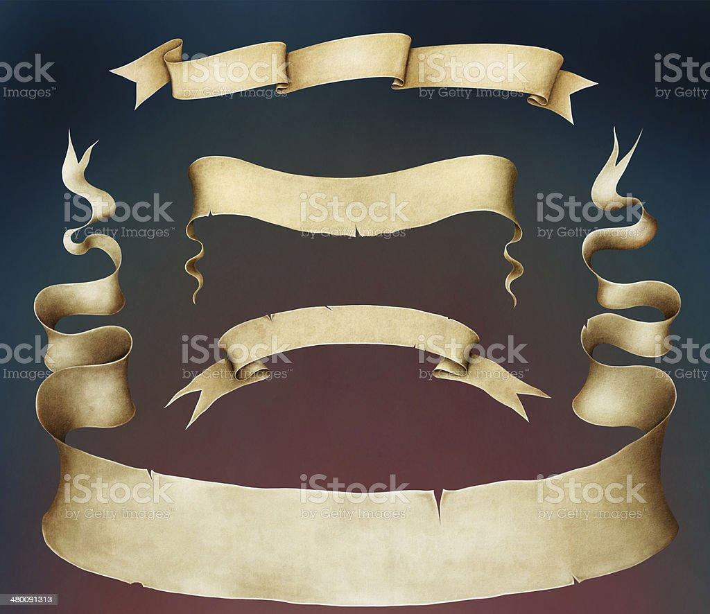 Four vintage banner. vector art illustration