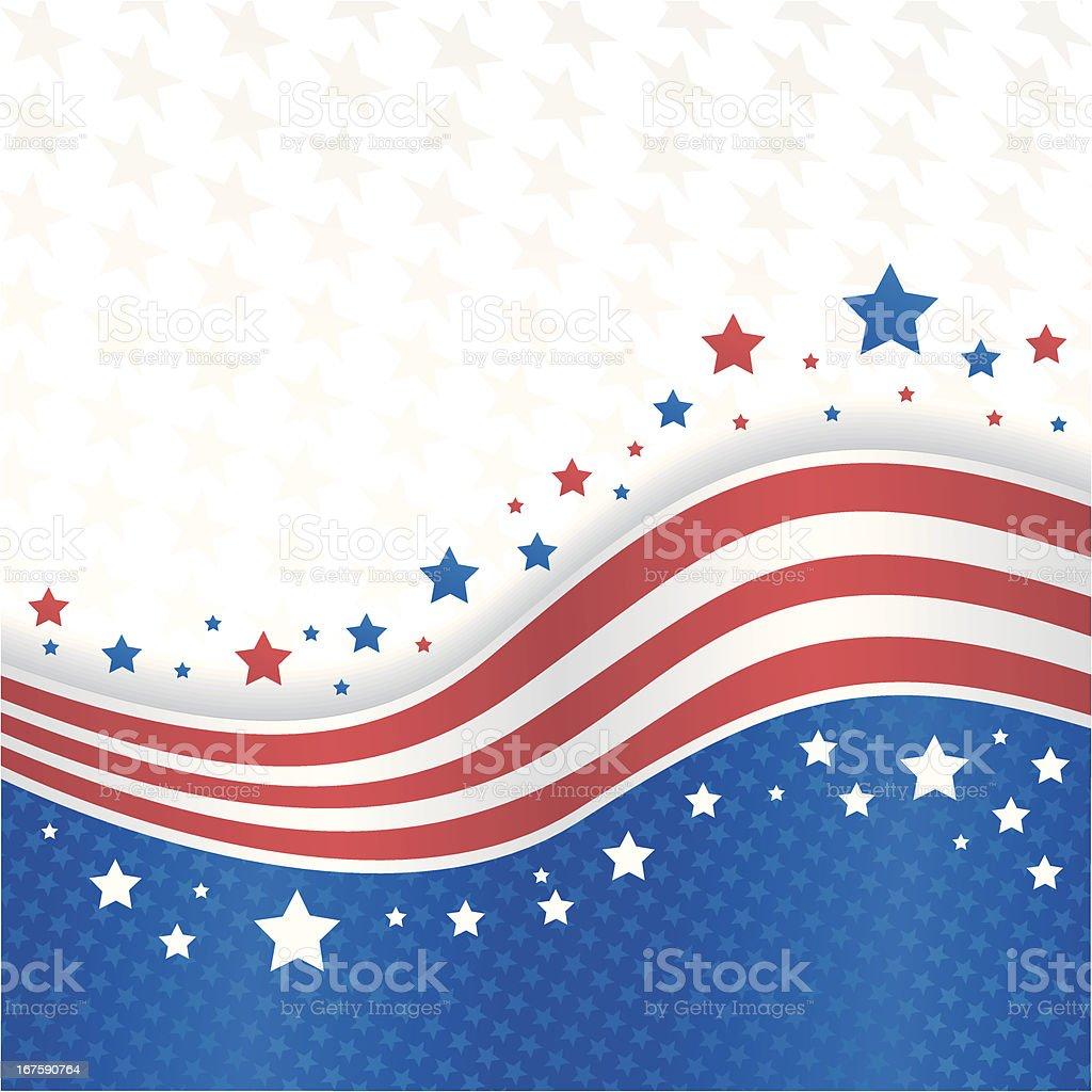 Fourth of July banner vector art illustration