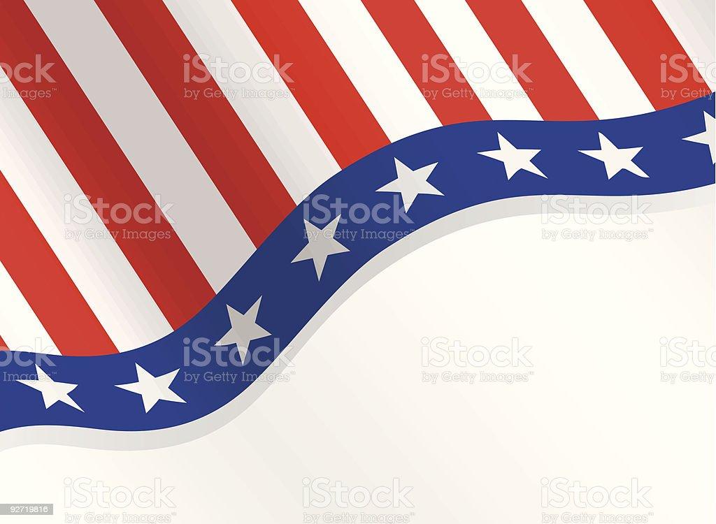 Fourth of July Patriotic Background vector art illustration