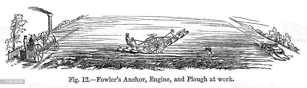 Fowler's Plough royalty-free stock vector art