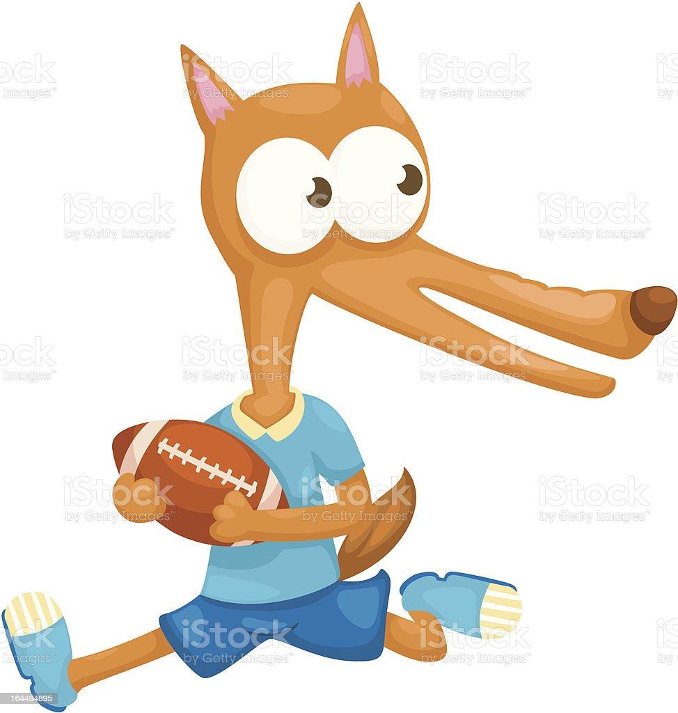 fox vector art illustration