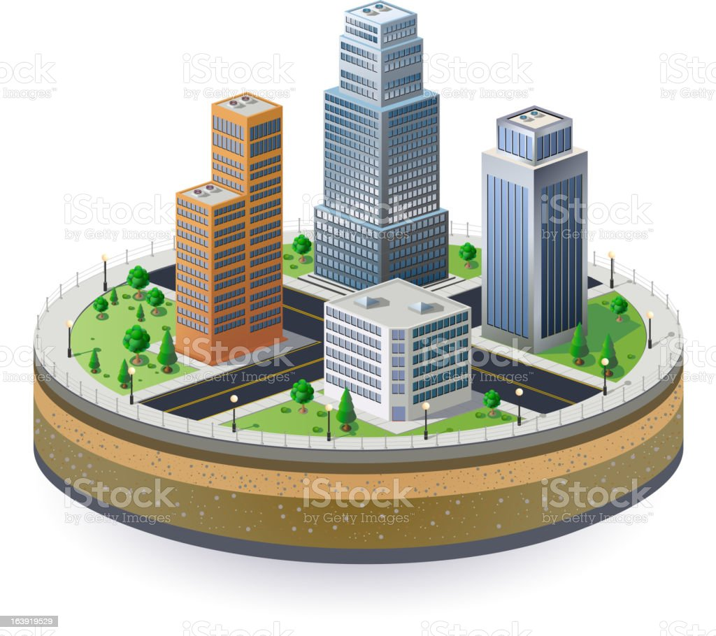 Fragment of the city royalty-free stock vector art